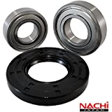 """Nachi High Quality Front Load Whirlpool Washer Tub Bearing and Seal Kit Fits Tub W10253866 (5 year replacement warranty and full HD """"How To"""" video included)"""