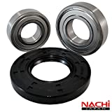 "Nachi High Quality Front Load GE Washer Tub Bearing and Seal Kit Fits Tub WH45X10071 (5 year replacement warranty and full HD ""How To"" video included)"