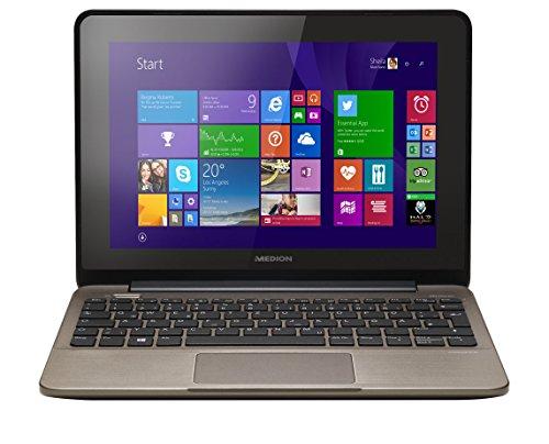 MEDION AKOYA E1231T (MD 99002) 25,6 cm (10,1 Zoll) Multitouch Netbook (Intel Celeron, 1.58GHz, 4GB RAM, 500GB HDD, Win. 8.1) titan
