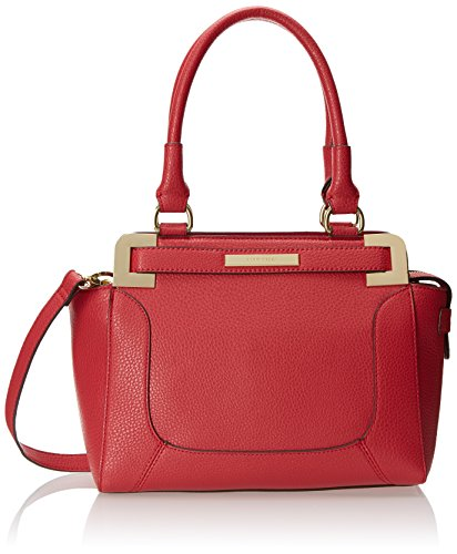Anne Klein Trinity Satchel Top Handle Bag, Pink Grapefruit, One Size