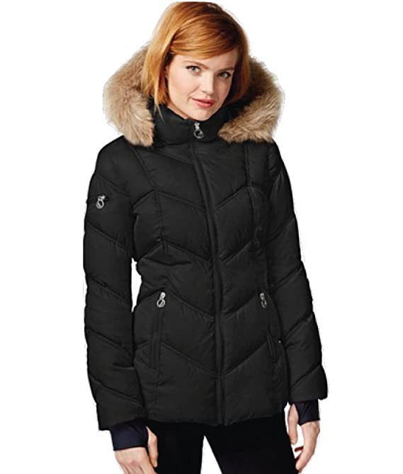 Nautica Women's Faux-Fur-Trim Short Puffer Coat