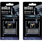 BRAUN 30B 7000 Series 4000 Series Mens Shaver Foil + Cutter Set Head Replacement, 2 Count