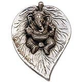 Ekdant Ganesha : White Metal Wall Hanging