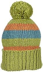Kiwi Pom Pom Hat (Toddler/Kid) - Kiwi/Teal/Marigold-Large (4-6 Years)