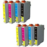 8 Compatible Ink Cartridges for Epson Stylus S20 S21 SX105 SX110 SX115 SX200 SX205 SX210 SX215 SX218 SX400FW SX405 SX410 SX415 SX515W SX600FW SX610FW D120 D78 D92 DX4000 DX4050 DX4400 DX4450 DX5000 DX5050 DX6000 DX6050 DX7000F DX7400 DX7450 DX8400 DX7450