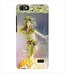 ColourCraft Beautiful Angel Design Back Case Cover for HUAWEI G PLAY MINI