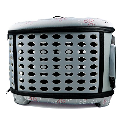 Hippih Folding Outdoor Pet bag for Dog Cat Comfort Airline Approved Travel Large Size Pet Carrier (Grey)