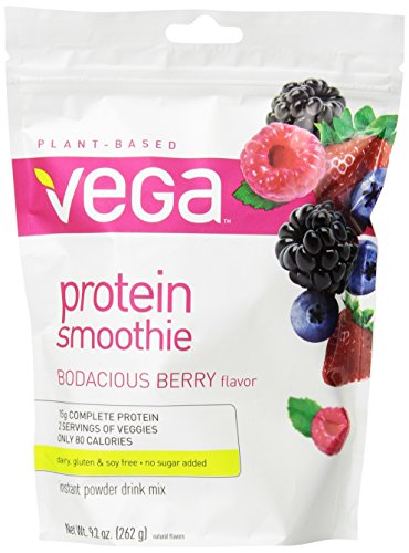 Vega Protein Smoothie, Bodacious Berry, Pouch, 9.2Oz back-2358