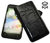 Suncase Leather Case for HTC Incredible S Crocodile Black