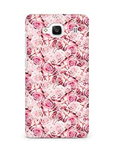 AMEZ designer printed 3d premium high quality back case cover for Xiaomi Redmi 2 Prime (pink rose)