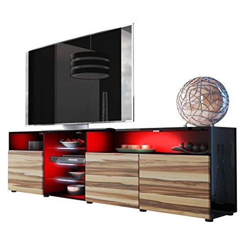 TV Stand Unit Granada V2 in Black / Baltimore Black Friday & Cyber Monday 2014