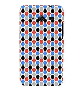 EPICCASE octagon Mobile Back Case Cover For Samsung Galaxy Core 2 (Designer Case)