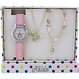 Set Cadeau Relda pour Enfant avec Montre, Collier et Bracelet Motif Cheval