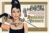 ポスター オードリー・ヘップバーン  ティファニーで朝食を ゴールド PP-32424