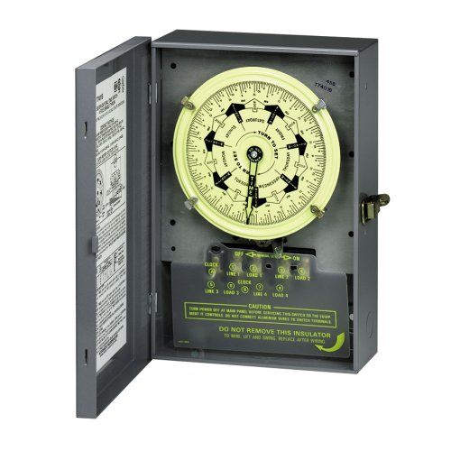 Intermatic T7401Bc 4Pst 125-Volt 7-Day Mechanical Time Switch With Nema 1 Indoor Cover And Carryover