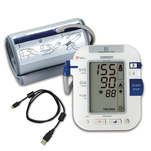 Omron HEM-790IT Automatic Blood Pressure Monitor with Advanced Omron Health Management Software