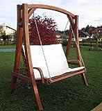 Design Hollywoodschaukel Gartenschaukel Hollywood Schaukel aus Holz Lärche Modell: 'KUREDO