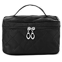 Diwali Gifts for Women Cosmetic Bag cum Travel Organizer - Black (PU-001152-COSTBG-BK)