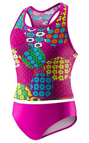 Speedo Big Girls' 2 Piece Sporty Back Tankini (14, Magenta) (Pink Taco Shells compare prices)