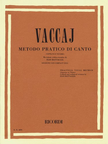 Practical Vocal Method (Vaccai) - High Voice: Soprano/Tenor - Book/CD