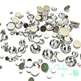 Crystal-Wholesale Swarovski Clear CRYSTAL (001) 2058/2088 Crystal Fatbacks Rhinestones Nail Art Mixed With Sizes Ss5, Ss7, Ss9, Ss12, Ss16, Ss20, Ss30, 144 Piece (Limited Edition) (Color: Limited Edition)