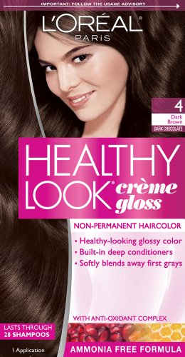 L'Oreal Paris Healthy Look, 4 Dark Brown/Dark