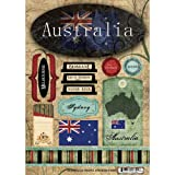 Scrapbook Customs - World Collection - Australia - Cardstock Stickers - Travel