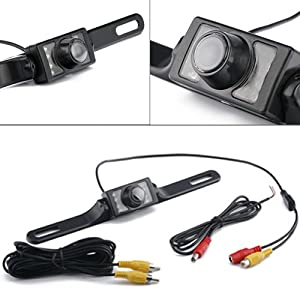 HDE Waterproof Rearview Backup License Plate Color Vehicle Camera Reverse Parallel Parking Night Vision Cam from The Rear View Camera Center