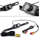 HDE Waterproof Rearview Backup License Plate Color Vehicle Camera Reverse Parallel Parking Night Vision Cam