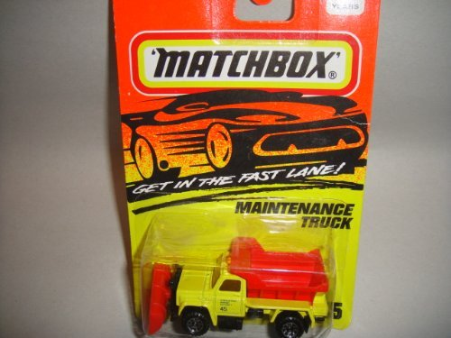 MATCHBOX 1993 RELEASE RED AND YELLOW MAINTENANCE TRUCK DIE-CAST COLLECTORS #45