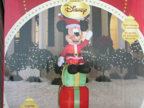 Disney 6' Mickey Mouse With Christmas Gifts Lighted Airblown Inflatable Outdoor Yard Decoration front-929832