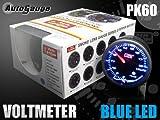 オートゲージ(AUTOGAUGE) 電圧計 60Φ ブルーLED ピークホールド付