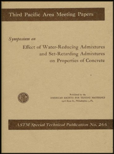 Symposium On Effect Of Water-Reducing Admixtures & Set-Retarding Admixtures On Properties Of Concrete