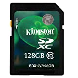 Kingston Digital 128 GB SDHC/SDXC Class 10 UHS-1 Flash Memory Card 30MB/s (SDX10V/128GB)