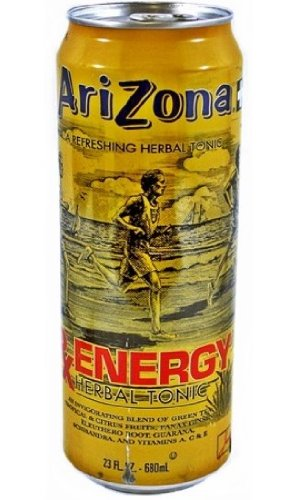 Arizona Tea Rx Energy Herbal Tonic, 23 Ounce Cans (Pack Of 24)