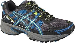 ASICS Women's GEL-Venture 4 Trail Running Shoe (8 B(M) US, Black/Teal/Lime)