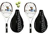 2 x Wilson N 6.3 Hybrid Tennis Rackets L3 + 3 Tennis Balls RRP £250