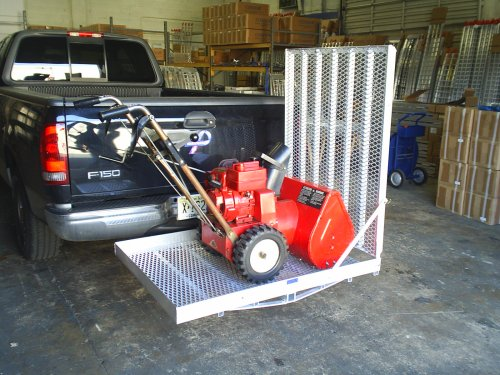 Cargo Carrier W/ramp 32″W – To Load Snow Blowers, Equipment, Power Wheelchairs, and Scooters. Dimensions: 48″ Long X 32″ Wide image