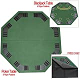 Trademark Poker Deluxe Poker and Blackjack Table Top with Case
