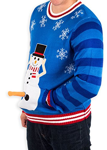 Excited Snowman Ugly Funny Christmas Sweater