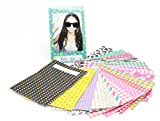 NodArtisan 60 Different Colorful Sticker Borders (60 Sheets) for Fuji Instax Mini Film(t2))