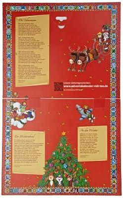 Goldmännchen Wand-Adventskalender mit 24 verschiedenen Teesorten, groß, 1er Pack (1 x 52 g) von Goldmännchen bei Gewürze Shop