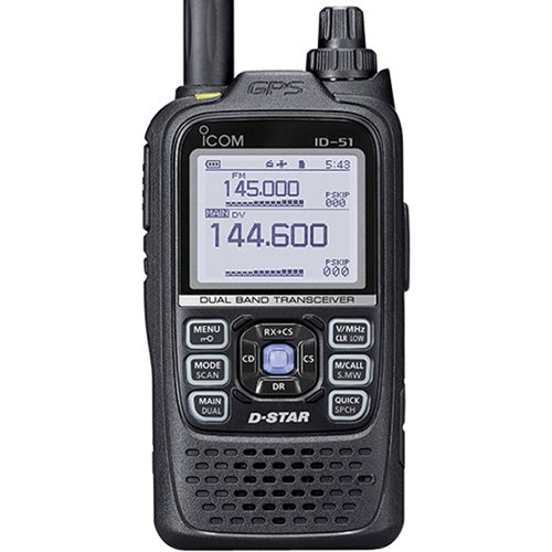 Icom Original ID-51A PLUS 144/440 Digital/Analog Handheld Transceiver Electronics Networking ...