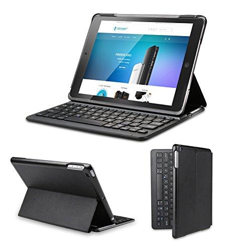 Clavier étui iPad Air, TeckNet Étui de protection pour Apple iPad Air 2, Etui avec Clavier sans fil Bluetooth en AZERTY français