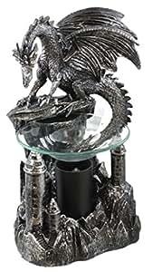 Dragon 39 s peak dragon oil warmer figurine home kitchen - Dragon oil warmer ...