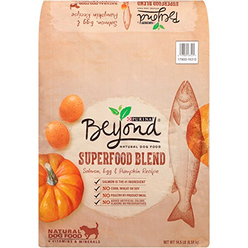 Purina Beyond Natural Dry Dog Food, Superfood Blend, Salmon, Egg and Pumpkin Recipe, 14.5-Pound Bag, Pack of 1 (Diamond Natural Dog Good compare prices)