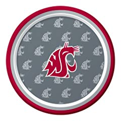 Buy Creative Converting 8 Count Washington State Cougars Paper Dessert Plates by Creative Converting