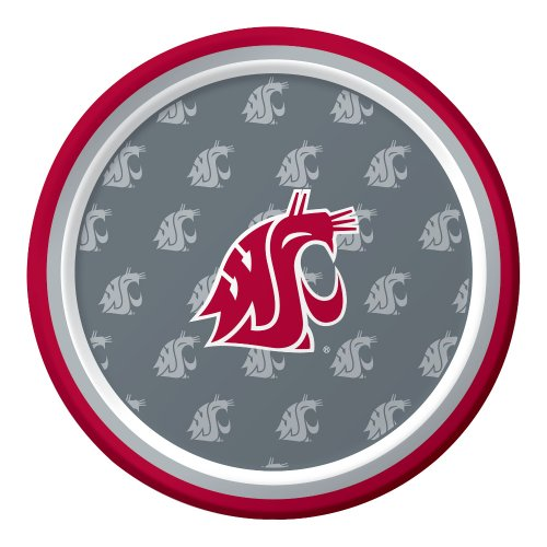 Creative Converting 8 Count Washington State Cougars Paper Dessert Plates - 1