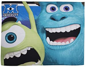 Character World Disney Monsters University Fleece Blanket, Multi-Color