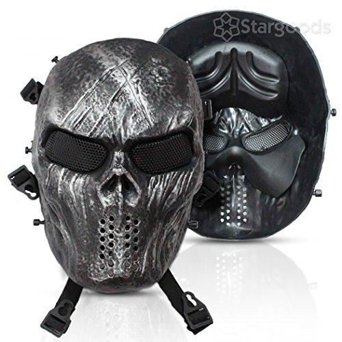 Stargoods Skeleton AirSoft Mask - Metal Mesh Paintball, BB Gun, & CS Games